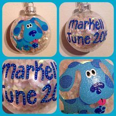 Hand Painted Blue's Clues Christmas Ornament by WattsGoodArtistry on Etsy. Follow my art today on Facebook https://www.facebook.com/wattsgoodartistrydesignsI also sell on ETSY!