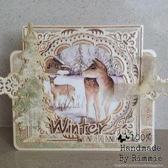 Hallo allemaal, De titel zegt het al, vandaag laat ik jullie een kaartje zien met daarop winterdieren. Ik heb weer de prachtige m...