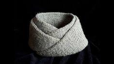Bufanda   Cuello para hombre facil y rapido tejido en dos agujas Cuellos  Tejidos 9fa3c11f825a