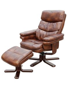 Relaxae Frai Luxury Swivel Recliner With Foot Stool