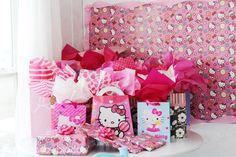 Decorated present corner