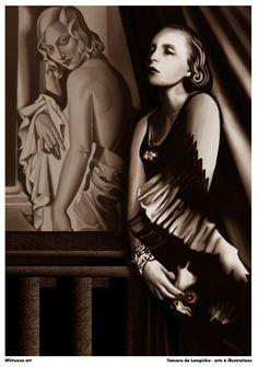art deco artist tamara de lempicka | Tamara de lempicka replica 'tamara de lempicka sf moma'