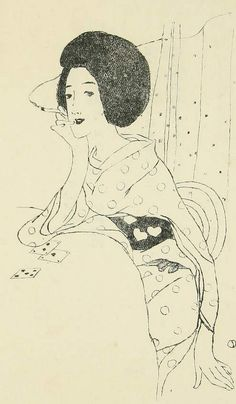 """Takehisa Yumeji, 1915, """"Samisen-kusa"""" (Shamisen Leaves), book of poetry. (34)"""