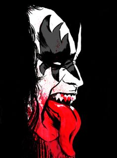 Guns N Roses, Kiss Merchandise, Ozzy Tattoo, Kiss World, Gene Simmons Kiss, Kiss Art, Scary Faces, Music Album Covers, Hot Band