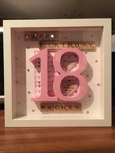 Scrabble Frame 18th birthday