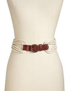 Women's Leather-Rope Belts