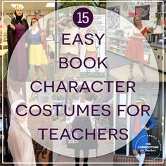 Love that these book character DIY halloween costumes for teachers are so easy to put together! Most of these costumes need only two or 3 key pieces to pull off.
