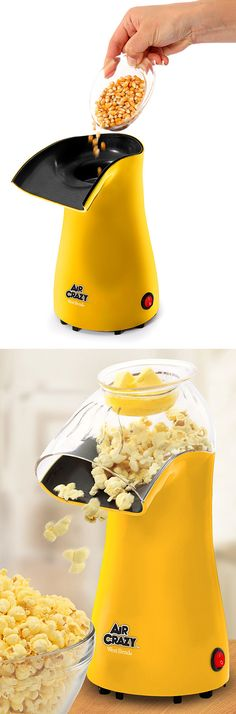 Air Crazy // a personal hot air popcorn popper. Want to eat popcorn every Sunday night while watching TV YUM Toy Kitchen, Kitchen Items, Kitchen Utensils, Kitchen Tools, Kitchen Appliances, Kitchen Board, Kitchen Stuff, Cool Kitchen Gadgets, Kitchen Hacks