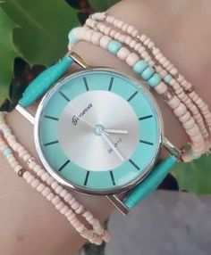 Montre Femme Cuir turquoise 2017
