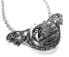 Steampunk Necklace Jewelry by edmdesigns. $185.00, via Etsy.