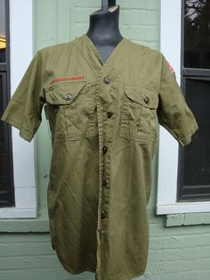 Vintage Boy Scout Uniform Shirt from by LeopardLoungeVintage, $28.00