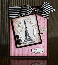 Wow! Another cool technique with the striped embossing folder from Krystal.