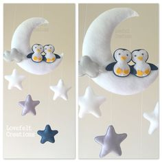 Mobile Baby Moon-Mobile mobile Baby-Krippe von lovefeltmobiles
