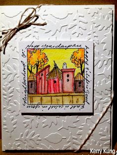 World Birds, Art Impressions Stamps, Window Cards, Watercolor Cards, Scrapbook Supplies, Stamping Up, Embossing Folder, Scrapbooks, Diy Crafts