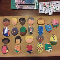Mix and match people with painted stones. Great for role play and exploring identity and multicultural play. Outcomes 1.2, 3.1, 5.3