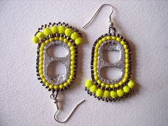 Lemon pie can tab earrings by PipaLatest, via Flickr