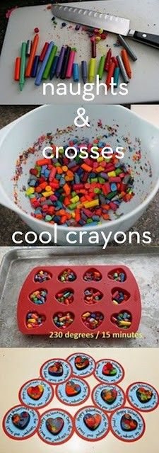 Fun recycle idea with old crayons.  Don't throw them away, make them better!  #BlissfulEarth