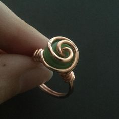 Wire Rings Tutorial, Wire Wrapping Tutorial, Wire Tutorials, Ring Tutorial, Jewelry Making Tutorials, Diy Wire Rings Easy, Wire Jewelry Rings, Wire Jewelry Making, Wire Jewelry Designs