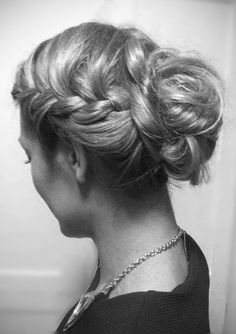 messy braided updo by Rebecca Taff