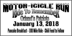 Orland, CA - Jan. Motor-Icicle Run for local military heroes. Soldier Love, Disabled Veterans, Motorcycle Events, Charity, Biker, Motorcycles, Gaming, Military, California