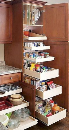 Do you need inspiration to make some DIY Small Kitchen Organization Ideas in your Home? Small kitchen organization isn't nearly as hard as you might think. The secret to small kitchen organization is the proper use of space. If… Continue Reading → Farmhouse Kitchen Cabinets, Kitchen Cabinet Storage, Storage Cabinets, Rustic Kitchen, Kitchen Organization, Kitchen Decor, Rustic Farmhouse, Kitchen Ideas, Farmhouse Style