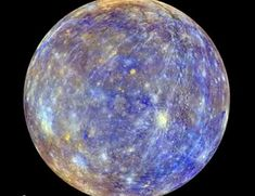 Mercury is the innermost planet in the Solar System. It is also the smallest, and its orbit is the most eccentric (that is, the least perfectly circular) of the eight planets. It orbits the Sun once in about 88 Earth days, completing three rotations about its axis for every two orbits. Mercury's surface is heavily cratered and similar in appearance to Earth's Moon, indicating that it has been geologically inactive for billions of years.