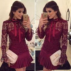 Vestidos para usar de diario   Belleza Look Fashion, Girl Fashion, Fashion Outfits, Fashion Design, Simple Dresses, Nice Dresses, Short Dresses, Dinner Wear, Glam Dresses
