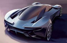 The Aston Martin DP-100 Vision Gran Turismo concept.