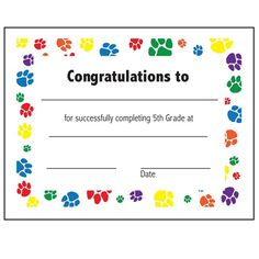Certificate of promotion 30pack downloadable templates available 5th grade completion certificate yelopaper Gallery