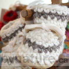 Padraig Wool Slippers are handmade in Canada. Our baby slippers make perfect newborn slippers, infant slippers or babies slippers. Baby Knitted Booties in Canada. Crochet Baby Boots, Knit Baby Booties, Baby Slippers, Baby Store, Crochet For Kids, Cloth Diapers, Baby Knitting, Cool Kids, Baby Items