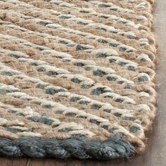 Safavieh Casual Natural Fiber Hand-Woven Blue / Natural Jute Rug (8' x 10')