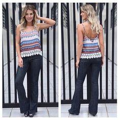 Preview Primavera 2015!! Regata em viscose estampa Boho Summer com detalhe de renda !! Calça jeans Hot Pants flare by Kixou !! Mas sabe #correqueacaba !! #regata #viscose #bohosummer #calça #jeans #flare #hotpants #bykixou #clienteamigakixou #look  #vempraca #tendência #coleção #fashion #moda #kixoumoda #lookprimavera  #primavera #colecaoprimavera #9anoskixou #kixou9 #9kixou #9anoscomvoce