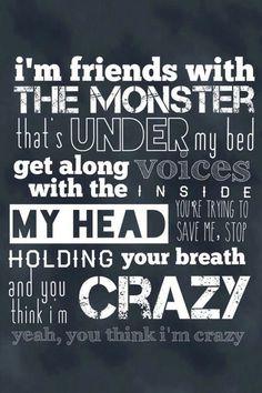 Monster under my bed #friend #lyrics