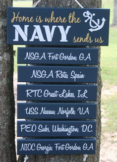 SIX Bars Any Branch Home is Where the Navy by KRCustomWoodcrafts