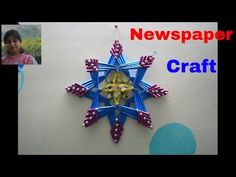 Newspaper  Flower Vase | DIY newspaper crafts | Best out of Waste | wall hanging | wall decor | Diy - YouTube