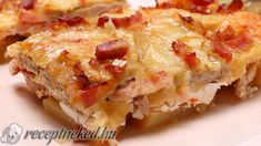 Casserole chop with recipe photo European Dishes, Recipe Land, Hawaiian Pizza, Food Photo, Lasagna, Quiche, Macaroni And Cheese, Hamburger, Cake Recipes
