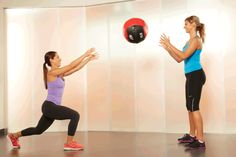 6. Lunge and Medicine-Ball Chest Pass