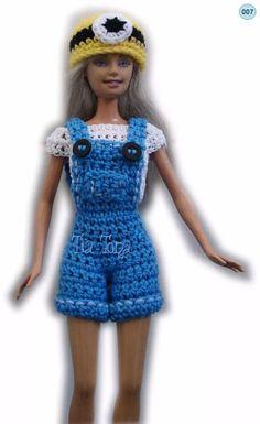 conjuntos ropa para barbie crochet accesorios jardinero
