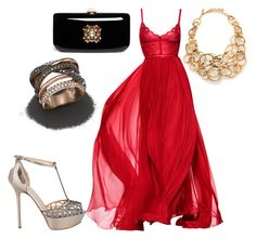 """""""Untitled #21326"""" by edasn12 ❤ liked on Polyvore featuring Elie Saab, Oscar de la Renta, Sergio Rossi, Rodo and Bloomingdale's"""