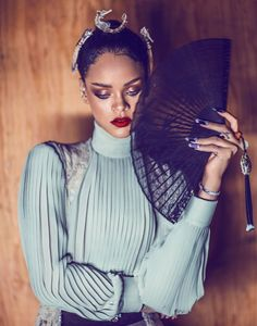 www.astairwaytofashion.com Rihanna by Chen Man for Harper's Bazaar China April…