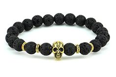 Natural Lava 8mm Gemstone Bead Golden Skull Stretchable B... http://www.amazon.com/dp/B010A0L6QQ/ref=cm_sw_r_pi_dp_bIssxb1QNK660