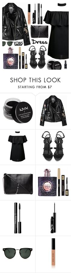 """Yoins - Choker Dress"" by dora04 ❤ liked on Polyvore featuring NYX, Yves Saint Laurent, Spitfire, Bobbi Brown Cosmetics, Azature, yoins, yoinscollection and loveyoins"