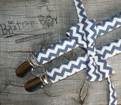 Navy chevron bow tie, little boy bow tie - photo prop, wedding, ring bearer, accessory. $11.00, via Etsy.