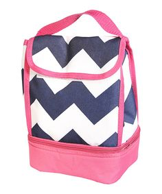 Take a look at this The Royal Standard Pink & Blue Zigzag Lunch Bag on zulily today!