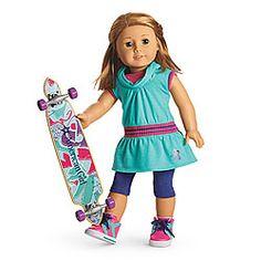 NEW! Skateboarding Set for Dolls + Charm