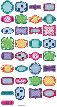 Frame It Applique - 33 great frame applique embroidery designs at Bunnycup Embroidery.