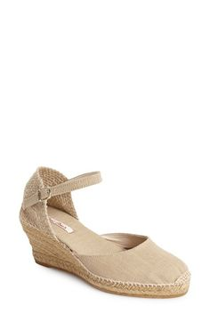 Toni Pons 'Caldes' Linen Wedge Sandal Nordstrom.com. A versatile espadrille sandal gets a little lift from a jute-wrapped wedge. The cushy footbed and flexible sole add comfort $115