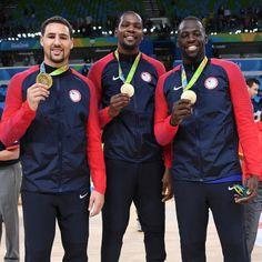Klay Thompson, Kevin Durant and Draymond Green 2016 Olympics