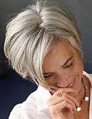 short hair styles for women over 40 gray hair