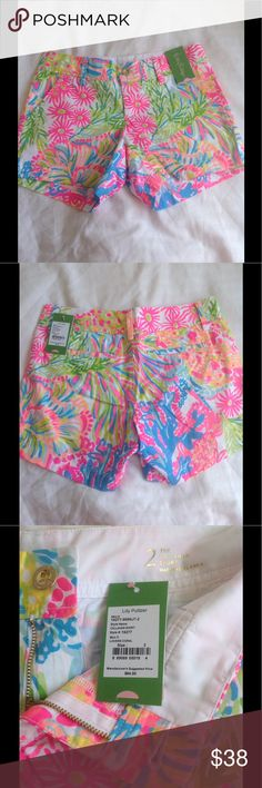 NWT Lilly Pulitzer Callahan shorts. Size 2 NWT Lilly Pulitzer Lovers Coral Callahan shorts. Size 2. Price is firm Lilly Pulitzer Shorts